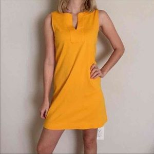 NY&C Gold Mustard Yellow Sleeveless Dress Sz S